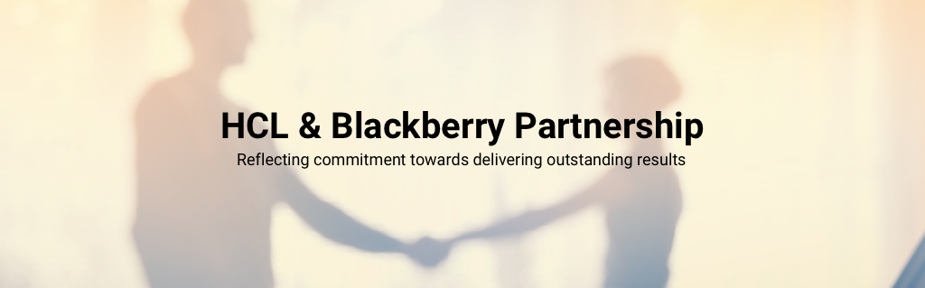 HCL & Blackberry Partnership